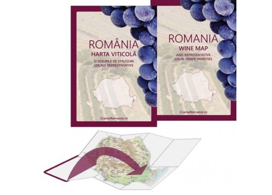 ROMANIA WINE MAP,