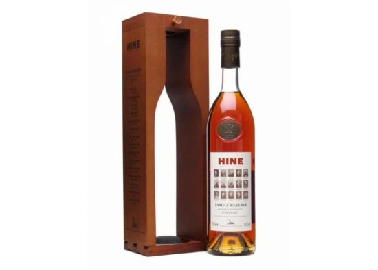 COGNAC HINE FAMILY RESERVE GRANDE CHAMPAGNE WOODEN BOX, cognac, hine family reserve grande champagne wooden box