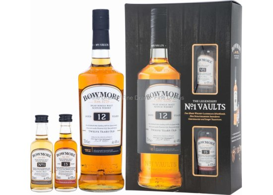 BOWMORE 12YO VAULTS SET,