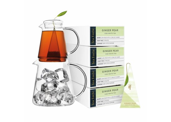 GIFT SET ACCESORII SI CEAI RECE WHITE GINGER PEAR TEA FORTE,